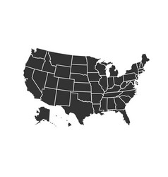 Usa map for atlas icon isolated on white vector