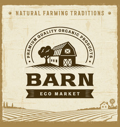 vintage barn label vector image
