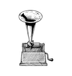 Vintage phonograph vector