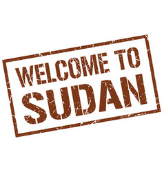 Welcome to sudan stamp vector