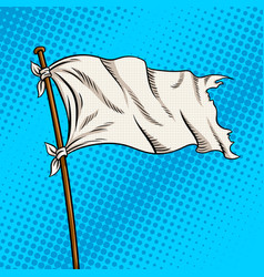 White flag pop art style vector