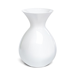 White vase isolated on a background vector