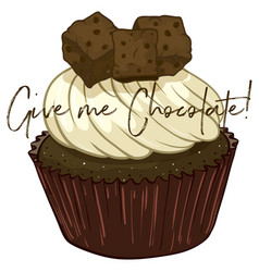 word expression for give me chocolate with vector image