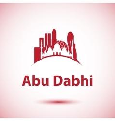 Abu Dhabi skyline Greatest landmarks as vector image