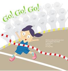 big race girl vector image vector image