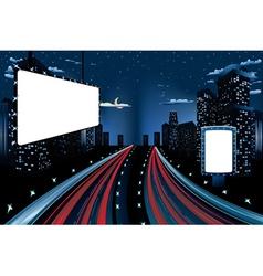 Billboards in Night City2 vector image