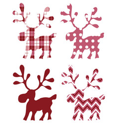 Deer isolated for design prints labels vector