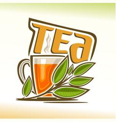 Logo of tea vector