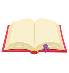 of a book vector image