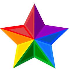star symbol color logo rainbow vector image