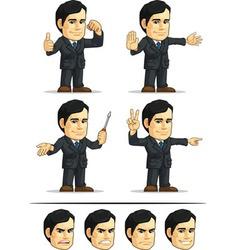 Businessman or Company Executive Customizable 4 vector image vector image