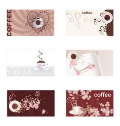 coffee cards set vector image