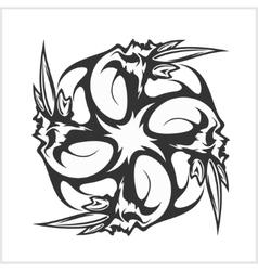 Skulls T-shirt design logos vector image vector image