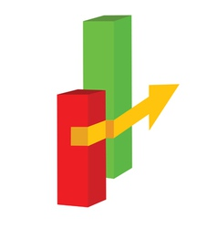 yellow arrow vector image
