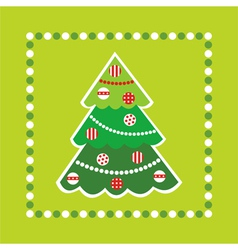Christmas Tree Card Background vector image vector image