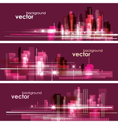Modern night cityscape background vector image