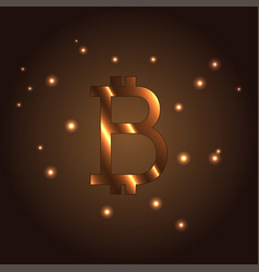 b letter logo icon element bitcoin vector image