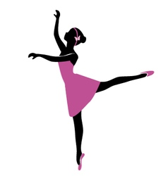 ballerina 6 vector image vector image