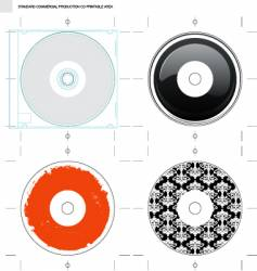 cd template and designs vector image