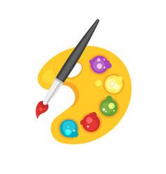 Colorful artist palette vector