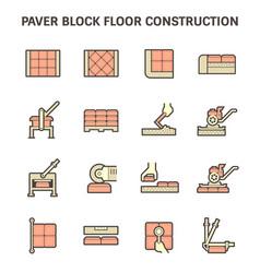 Paver block floor vector