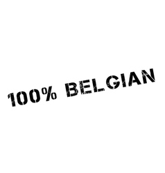 100 percent Belgian rubber stamp vector