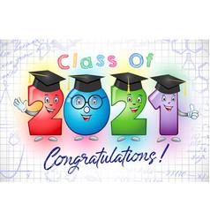 2021 graduates character 3d white bg animated vector