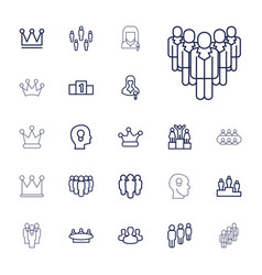 22 leader icons vector