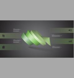 3d infographic template with round pentagon vector image