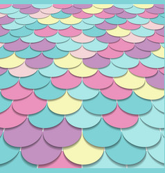 Abstract pattern fish scale motif pastel color vector