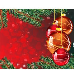 Abstract red Christmas background vector