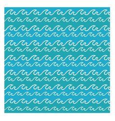 Abstract sea waves background vector