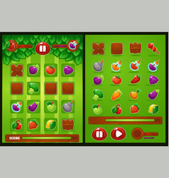all elements for oyur match 3 game farm vector image