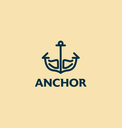 Ancor icon isolated on white background simple vector