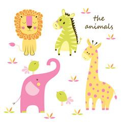 animal scandinavian set vector image