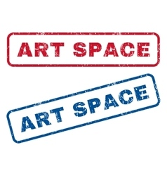 Art Space Rubber Stamps vector