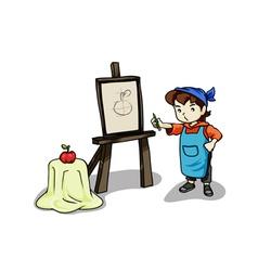 Art student vector