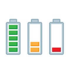 battery load charge status symbols set vector image