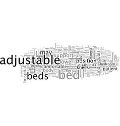 Benefits of an adjustable bed vector
