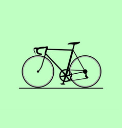 bike icon isolated on white vector image