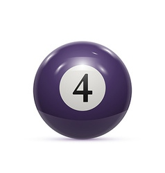 Billiard four ball isolated on a white background vector