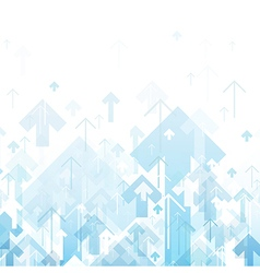 Blue arrows up abstract background vector