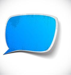 Blue grunge speech label design vector image