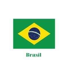 brasil flag color vector image
