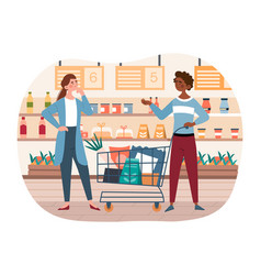 Buying food concept vector