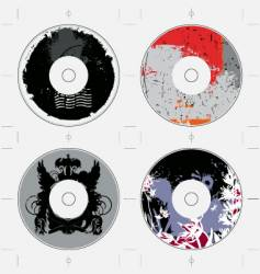 cd template grunge designs vector image