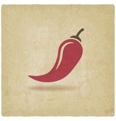 Chili old background vector