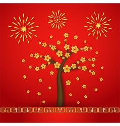 Chinese new year cerabration background vector image