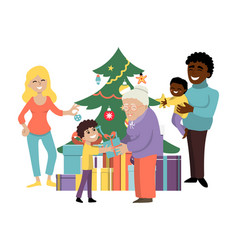 Christmas amicable family holiday character vector