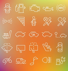 clean icons set vector image